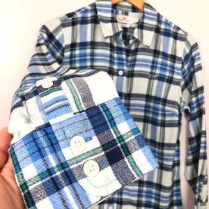 Vineyard Vines Tops - Vineyard Vines Flannel Button Down Shirt Size 2